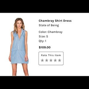 state of being Dresses - Chambray shirt dress